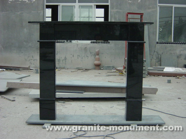 black fireplace surround fireplace mantels black stone fireplace surround - Black Fireplace Mantels
